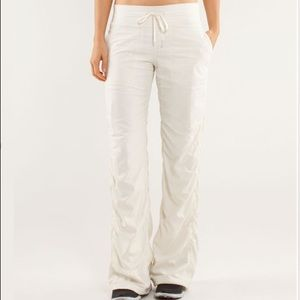 Lululemon White Studio Pant II - Lined